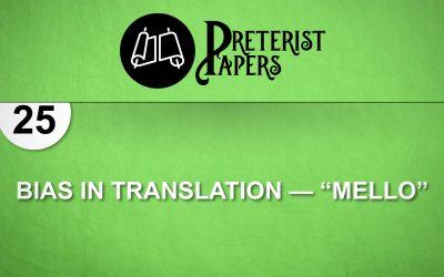 "25 Bias in Translation—""Mello"""